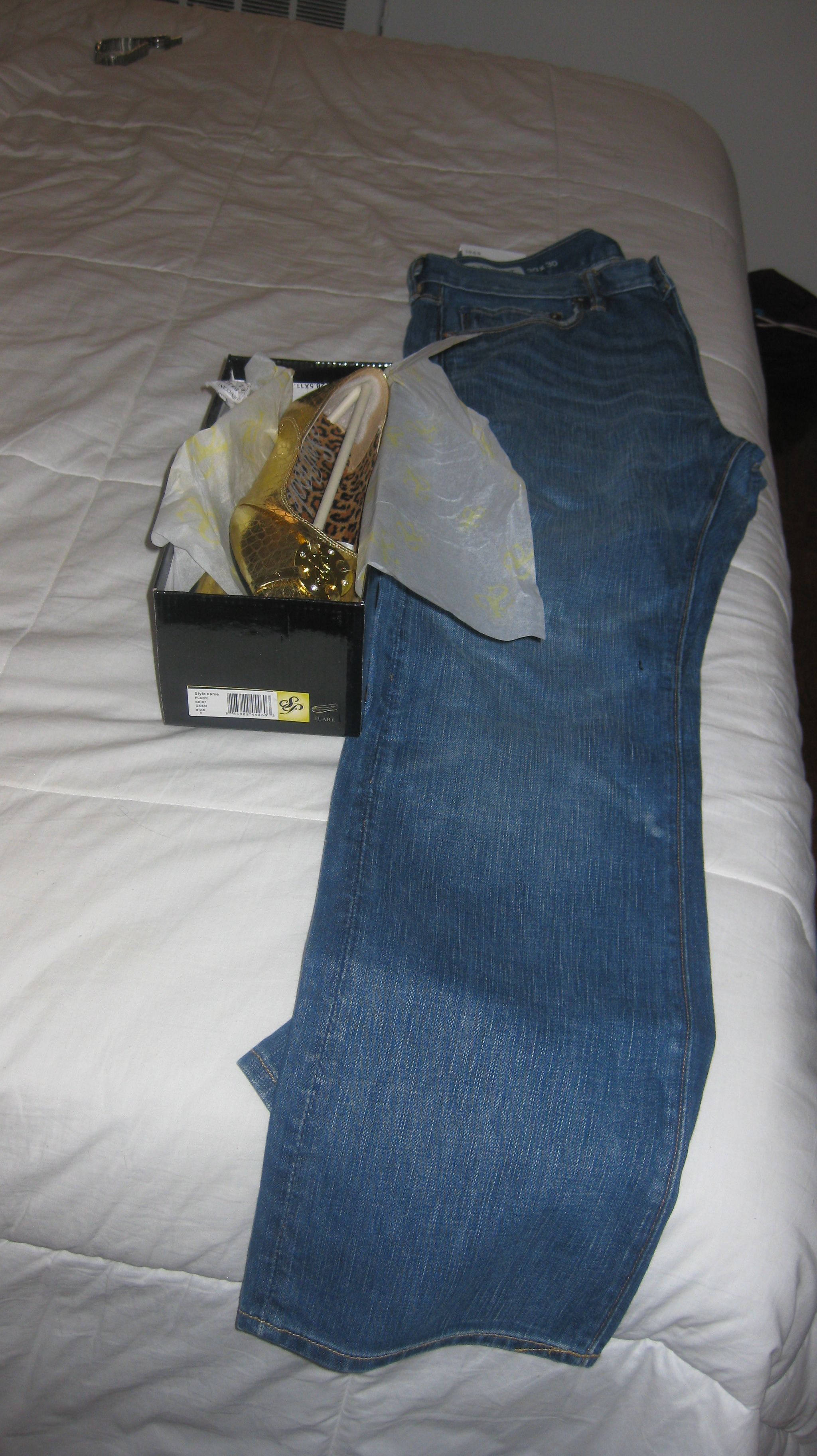 Gap Jeans and South Pole flats