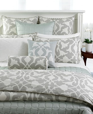 barbara  barry silver duvet cover