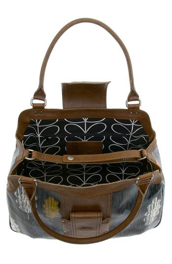 inside orla keily forest leather bag