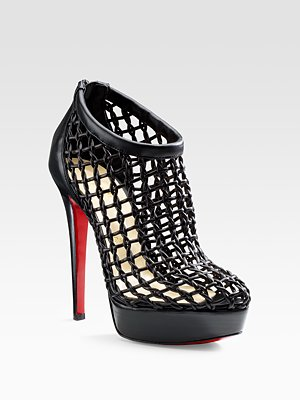 christian louboutin caged coussin ankle boot booty bootie