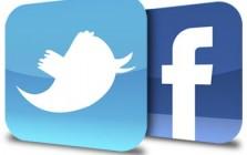 twitter, facebook, logo